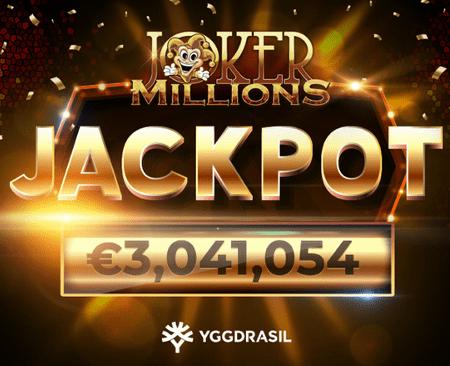 Джекпот от Yggdrasil: Joker Millions принесла 3 миллиона евро!